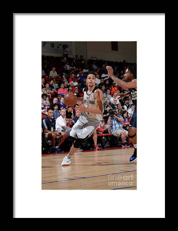Nba Pro Basketball Framed Print featuring the photograph Derrick White by David Dow
