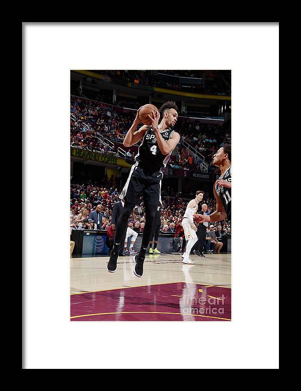 Nba Pro Basketball Framed Print featuring the photograph Derrick White by David Liam Kyle