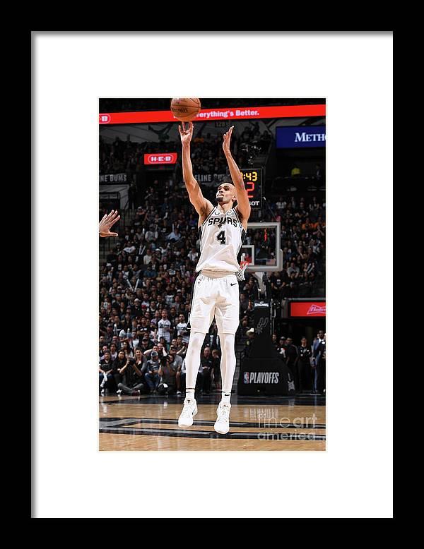 Playoffs Framed Print featuring the photograph Derrick White by Garrett Ellwood