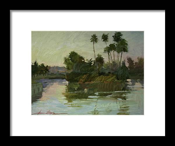 Plein Air Framed Print featuring the painting Desert Isle by Betty Jean Billups