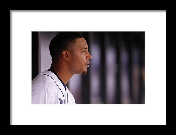 American League Baseball Framed Print featuring the photograph Desmond Jennings by Brian Blanco