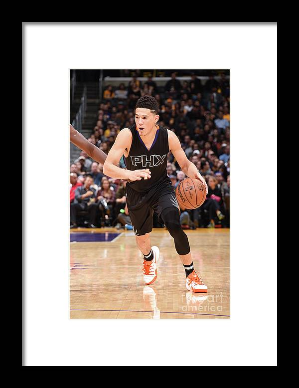 Nba Pro Basketball Framed Print featuring the photograph Devin Booker by Andrew D. Bernstein