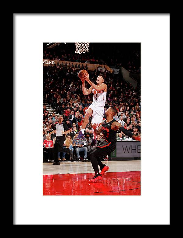 Nba Pro Basketball Framed Print featuring the photograph Devin Booker by Cameron Browne