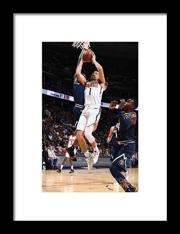 Nba Pro Basketball Framed Print featuring the photograph Devin Booker by Garrett Ellwood