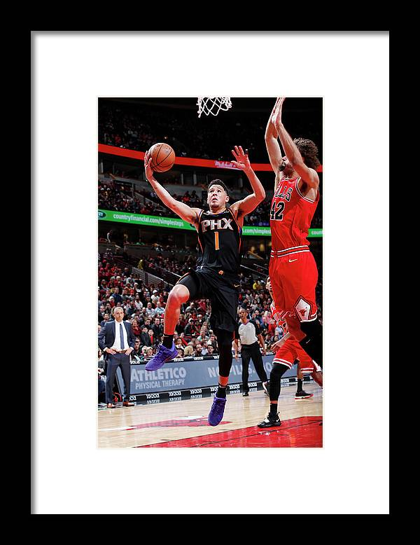 Nba Pro Basketball Framed Print featuring the photograph Devin Booker by Jeff Haynes