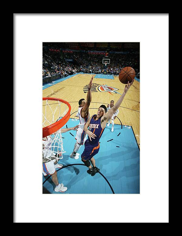 Nba Pro Basketball Framed Print featuring the photograph Devin Booker by Layne Murdoch