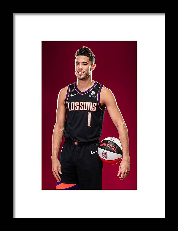 Nba Pro Basketball Framed Print featuring the photograph Devin Booker by Michael J. LeBrecht II
