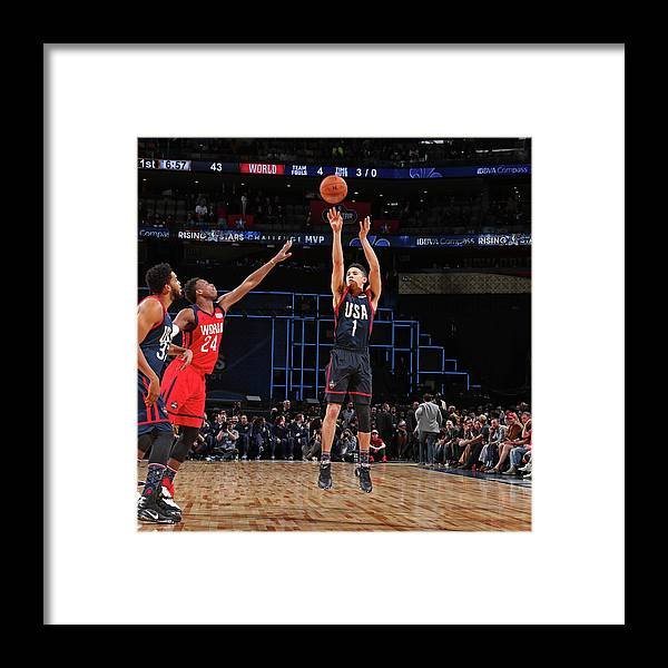 Event Framed Print featuring the photograph Devin Booker by Nathaniel S. Butler
