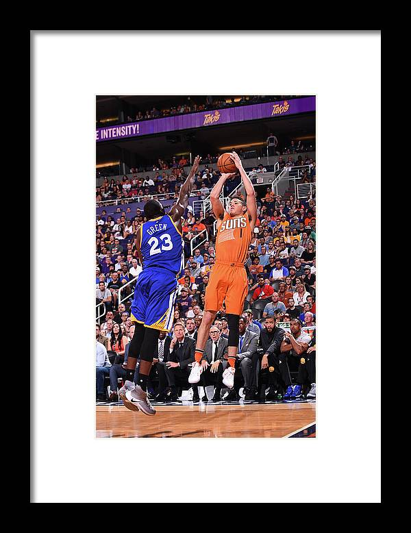 Nba Pro Basketball Framed Print featuring the photograph Devin Booker by Noah Graham