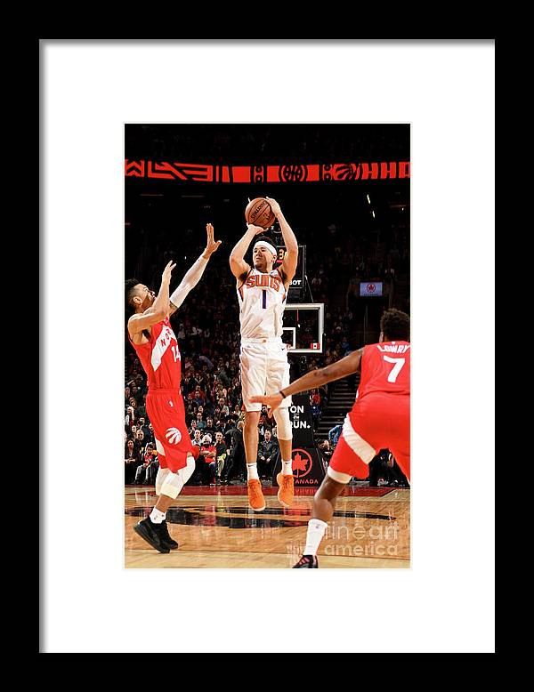 Nba Pro Basketball Framed Print featuring the photograph Devin Booker by Ron Turenne