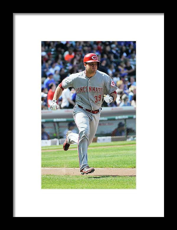 Devin Mesoraco Framed Print featuring the photograph Devin Mesoraco by David Banks