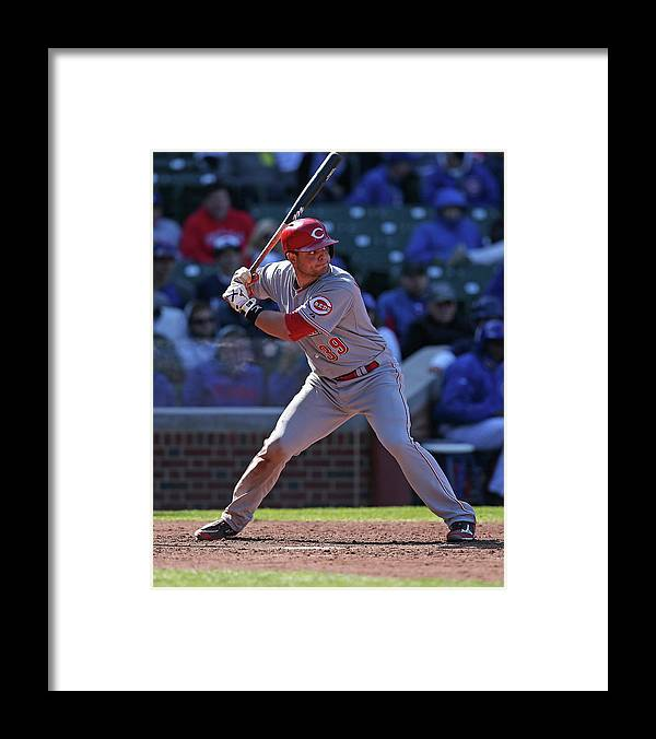 Devin Mesoraco Framed Print featuring the photograph Devin Mesoraco by Jonathan Daniel