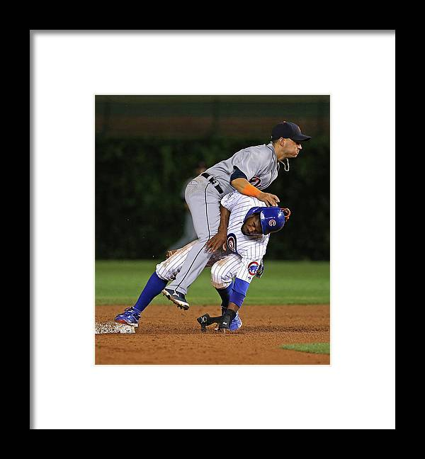 Double Play Framed Print featuring the photograph Dexter Fowler by Jonathan Daniel