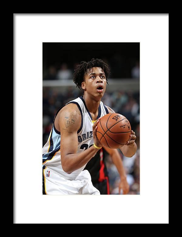 Nba Pro Basketball Framed Print featuring the photograph Deyonta Davis by Joe Murphy