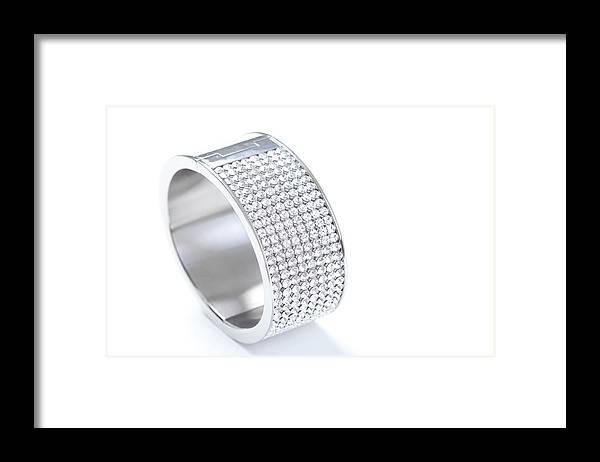 Gemstone Framed Print featuring the photograph Diamond Bracelet by Vitapix