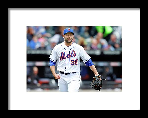 Double Play Framed Print featuring the photograph Dillon Gee by Jim Mcisaac
