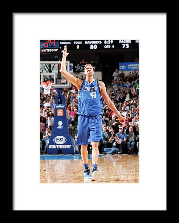 Nba Pro Basketball Framed Print featuring the photograph Dirk Nowitzki by Danny Bollinger