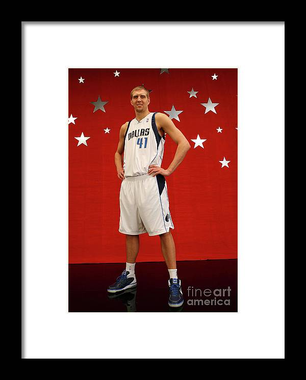Nba Pro Basketball Framed Print featuring the photograph Dirk Nowitzki by Jesse D. Garrabrant