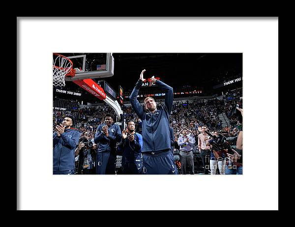 Nba Pro Basketball Framed Print featuring the photograph Dirk Nowitzki by Mark Sobhani