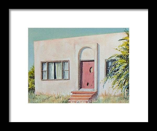 House Framed Print featuring the painting Once was a Home by Philip Fleischer