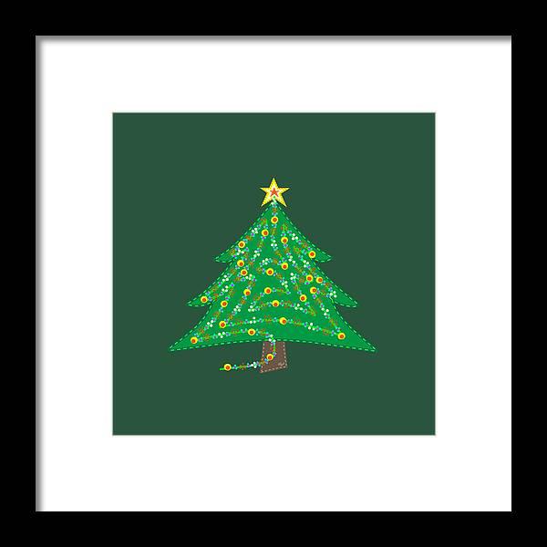 Christmas Framed Print featuring the digital art Discover XMAS, aka Christmas by Bill Ressl