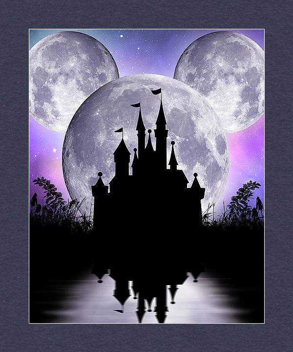 Disney Castle under Mickey Mouse moon by Mihaela Pater