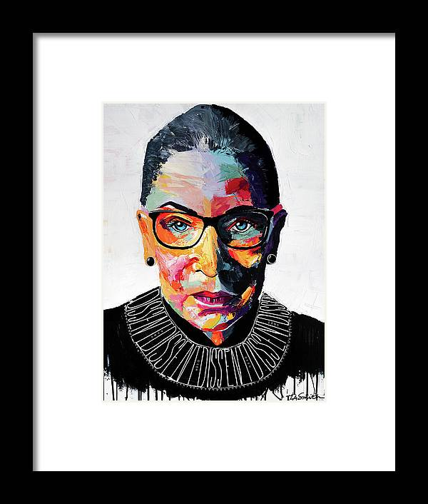 Portrait Framed Print featuring the painting Dissent by LA Smith