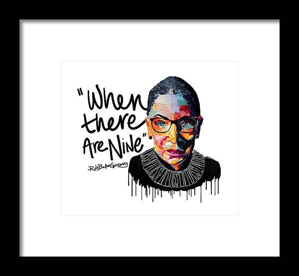 Portrait Framed Print featuring the painting Dissent - When There Are Nine by LA Smith