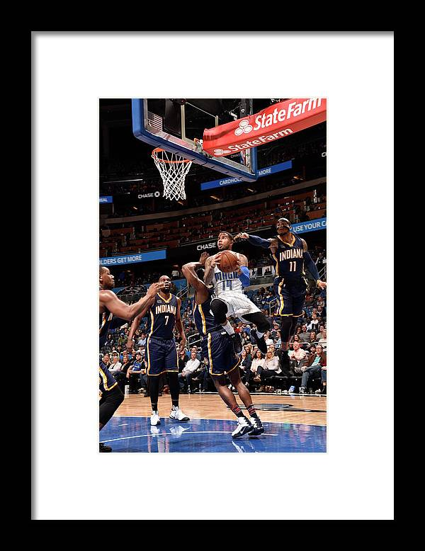 Nba Pro Basketball Framed Print featuring the photograph D.j. Augustin by Gary Bassing