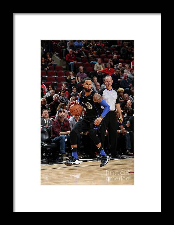 Nba Pro Basketball Framed Print featuring the photograph D.j. Augustin by Gary Dineen