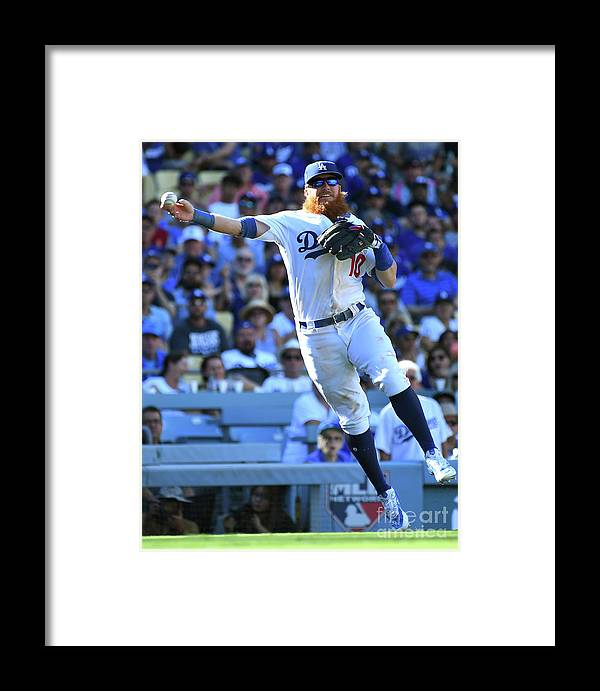 People Framed Print featuring the photograph Dj Lemahieu And Justin Turner by Jayne Kamin-oncea