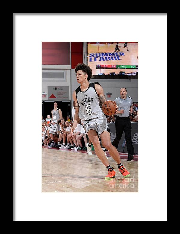 Nba Pro Basketball Framed Print featuring the photograph D.j. Wilson by David Dow