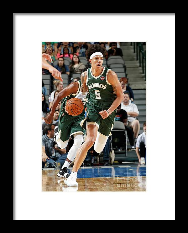 Nba Pro Basketball Framed Print featuring the photograph D.j. Wilson by Glenn James