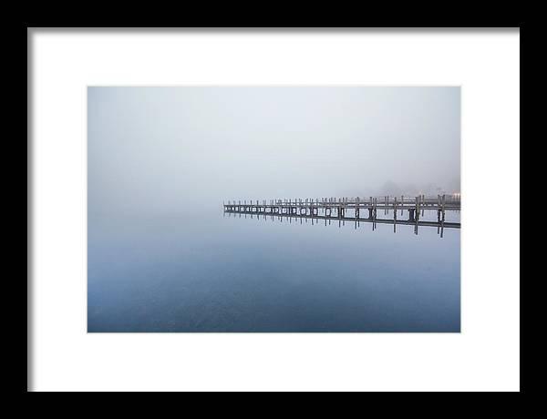 Docks Framed Print featuring the photograph Docks by Trevor Slauenwhite