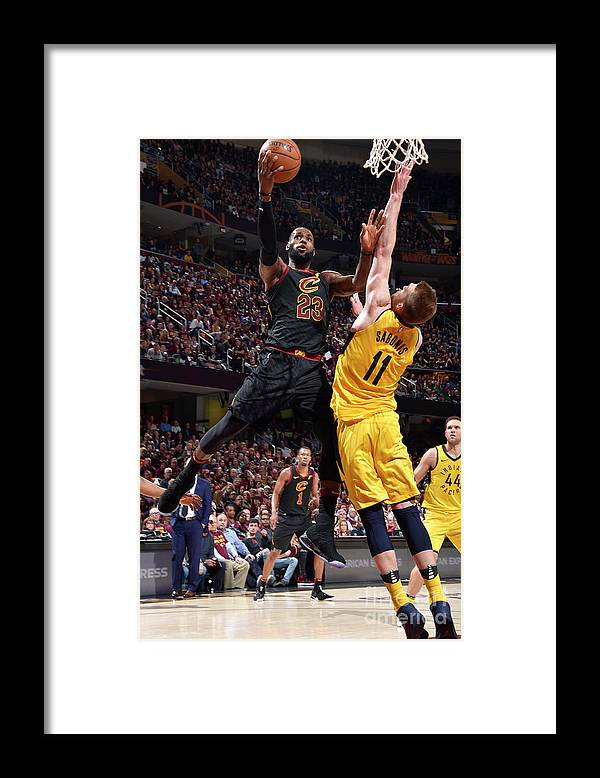Playoffs Framed Print featuring the photograph Domantas Sabonis and Lebron James by David Liam Kyle