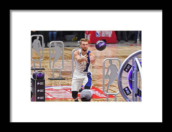 Nba Pro Basketball Framed Print featuring the photograph Domantas Sabonis by Bill Baptist