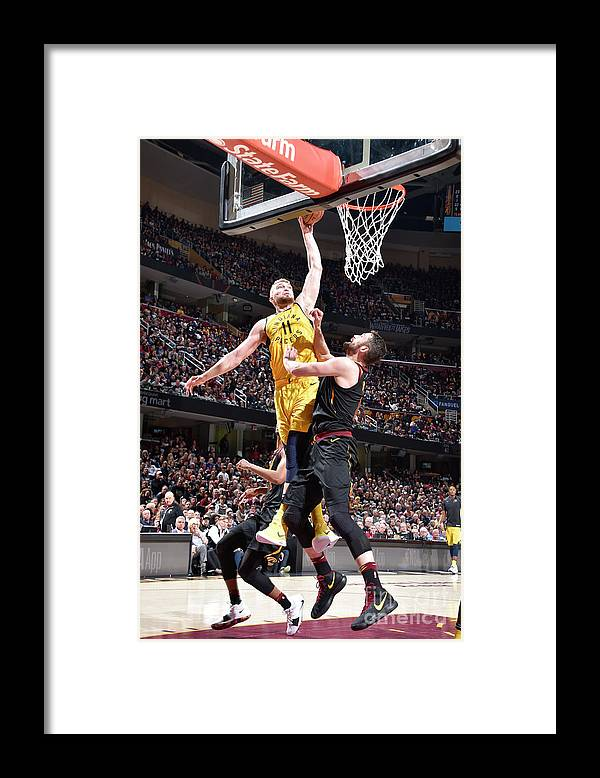 Playoffs Framed Print featuring the photograph Domantas Sabonis by David Liam Kyle