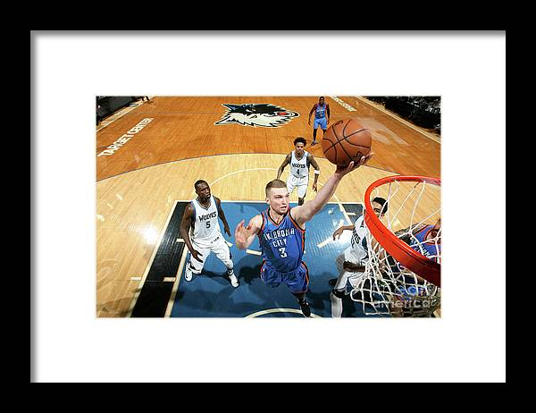 Nba Pro Basketball Framed Print featuring the photograph Domantas Sabonis by David Sherman