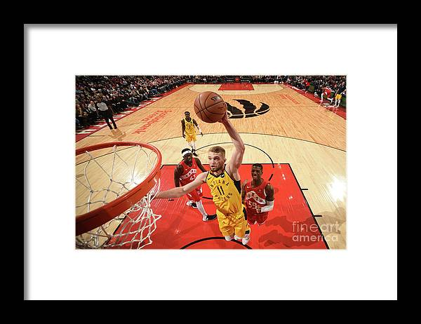 Nba Pro Basketball Framed Print featuring the photograph Domantas Sabonis by Ron Turenne