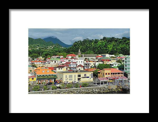 Dominica Framed Print featuring the photograph Dominica Island Waterfront by Kirsten Giving