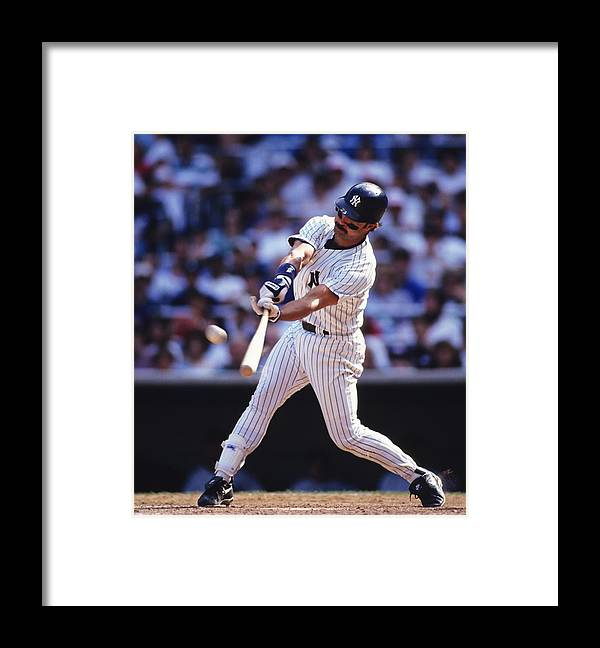 American League Baseball Framed Print featuring the photograph Don Mattingly by Ronald C. Modra/sports Imagery