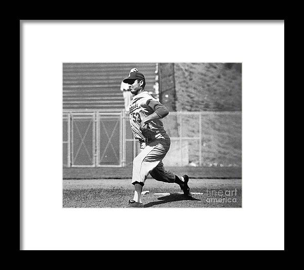 1950-1959 Framed Print featuring the photograph Don White by National Baseball Hall Of Fame Library