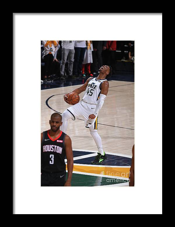 Playoffs Framed Print featuring the photograph Donovan Mitchell by Bill Baptist