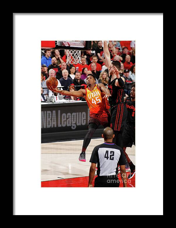 Nba Pro Basketball Framed Print featuring the photograph Donovan Mitchell by Cameron Browne