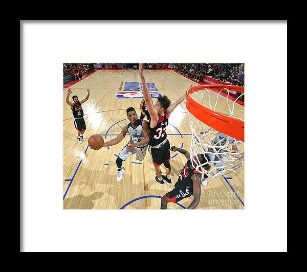 Nba Pro Basketball Framed Print featuring the photograph Donovan Mitchell by David Dow