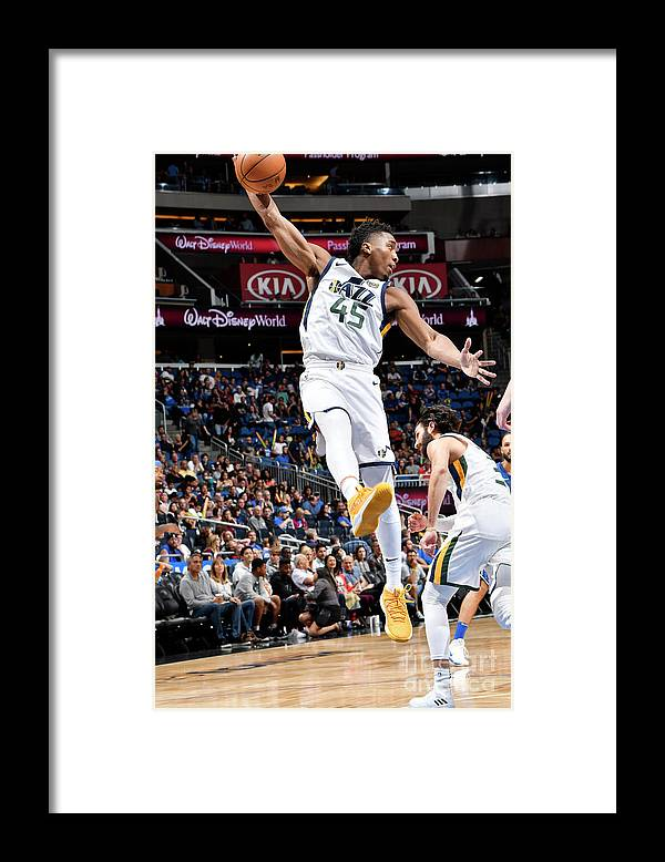Nba Pro Basketball Framed Print featuring the photograph Donovan Mitchell by Fernando Medina
