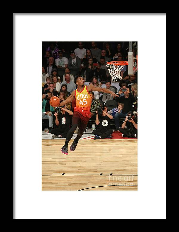 Event Framed Print featuring the photograph Donovan Mitchell by Gary Dineen