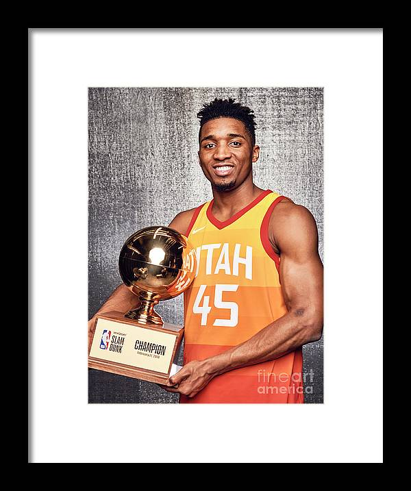 Event Framed Print featuring the photograph Donovan Mitchell by Jennifer Pottheiser