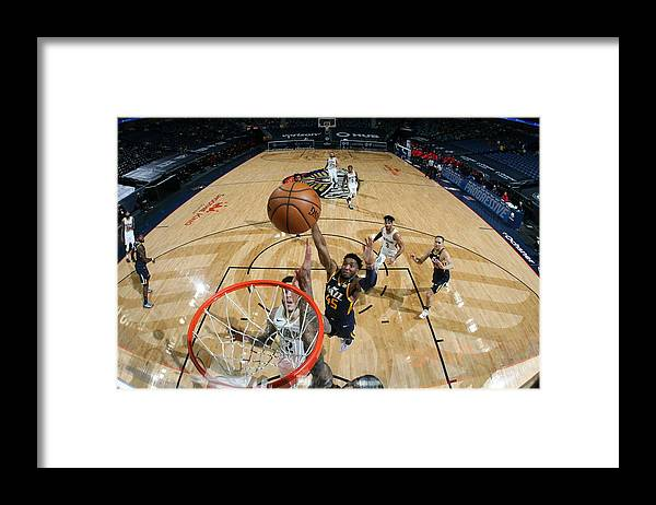 Smoothie King Center Framed Print featuring the photograph Donovan Mitchell by Layne Murdoch Jr.