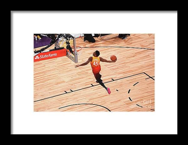 Event Framed Print featuring the photograph Donovan Mitchell by Noah Graham